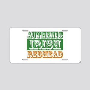 Authentic Irish Redhead Aluminum License Plate
